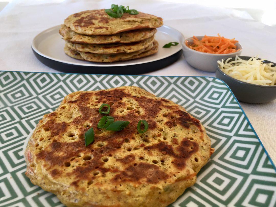 Pancakes de blé noir aux légumes