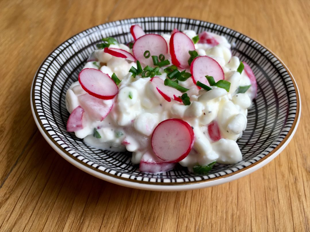 Recette de tartinade cottage cheese radis et ciboulette