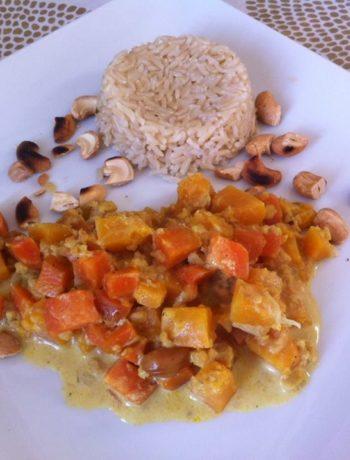 Curry de butternut aux noix de cajou