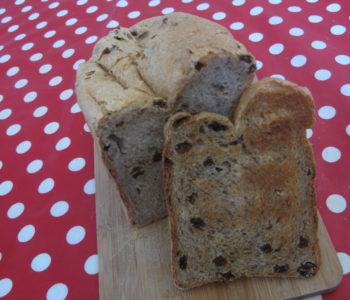pain à la cannelle et raisins