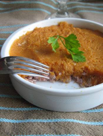 Hachis parmentier de veau au gingembre et patate douce