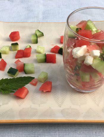 salade de pastèque concombre et feta