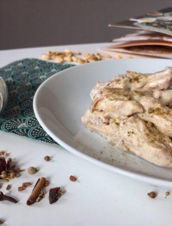Poulet à l'indienne sauce au yaourt et épices