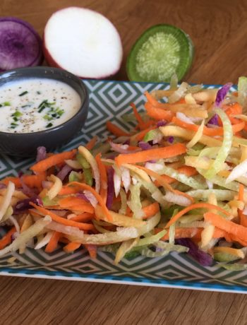 Salade rainbow de radis et carotte