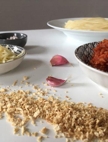 Recette de pâtes sauce bolognaise au soja