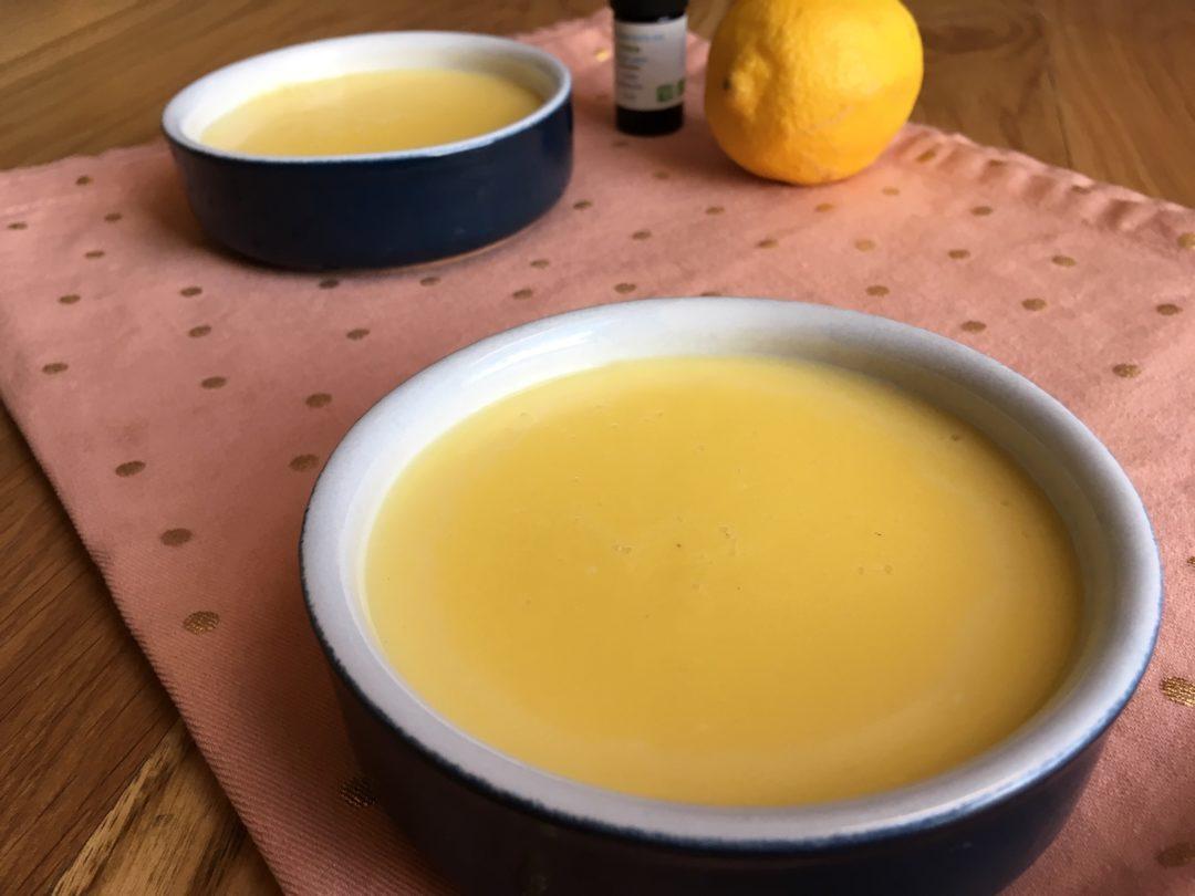 Crème dessert à l'huile essentielle de citron
