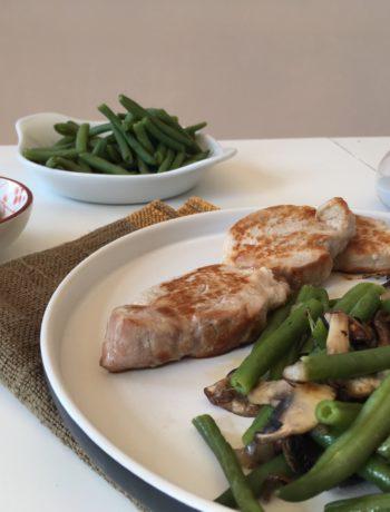 Recette expresse de filet mignon poêlé et légumes