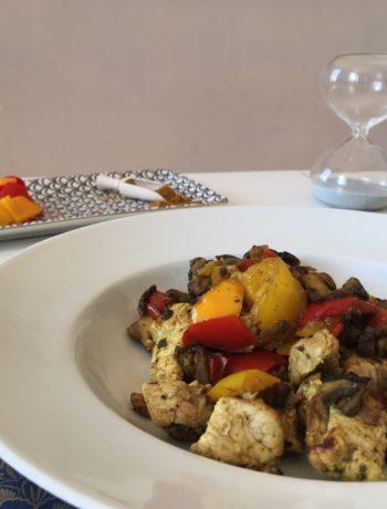 Recette express de porc et légumes au curry