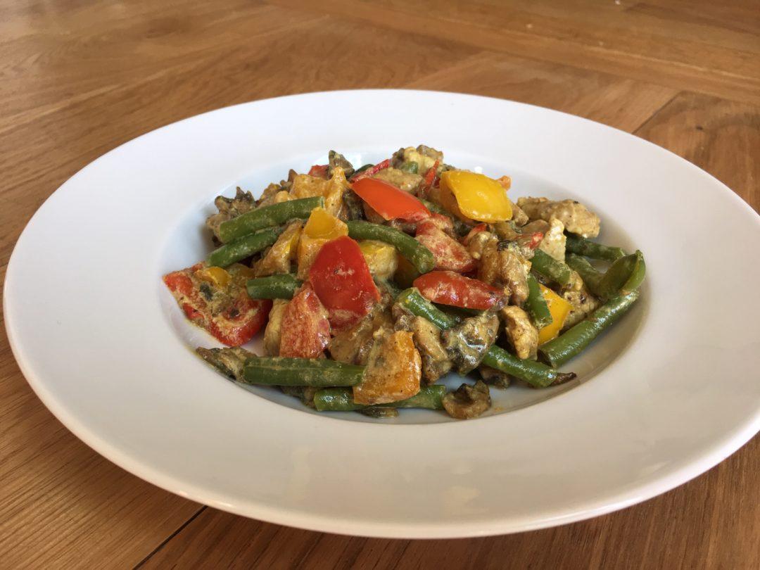Curry de légumes au filet mignon de porc