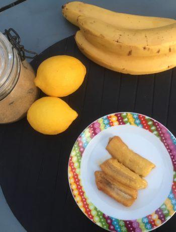Recette de bananes poêlées au citron