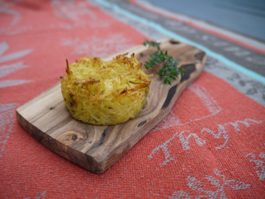 Croustille de pomme de terre au thym