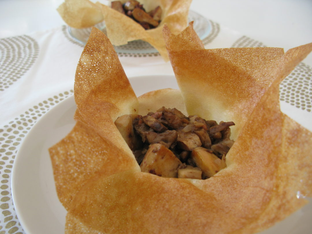 Corolle de foie gras aux champignons forestiers