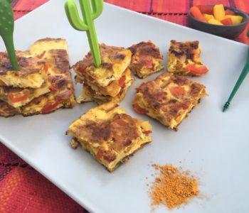 Tortilla aux poivrons et au curry