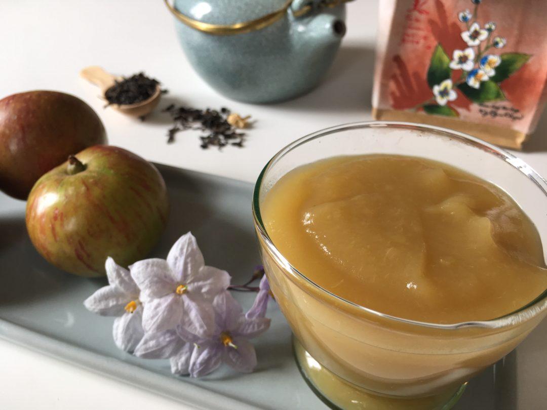 Compote de pommes au thé jasmin