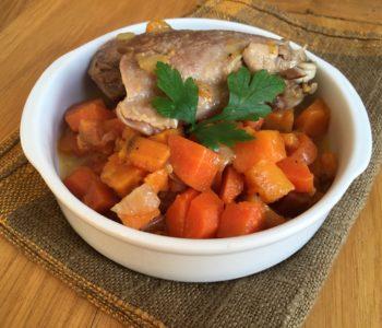 Mijoté de poulet à la carotte et patate douce