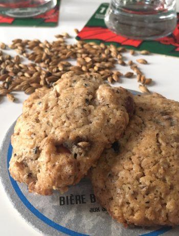 Cookies aux drêches et amandes