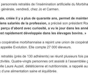 Article Ouest France suite conférence à l'AG du 9 novembre 2019