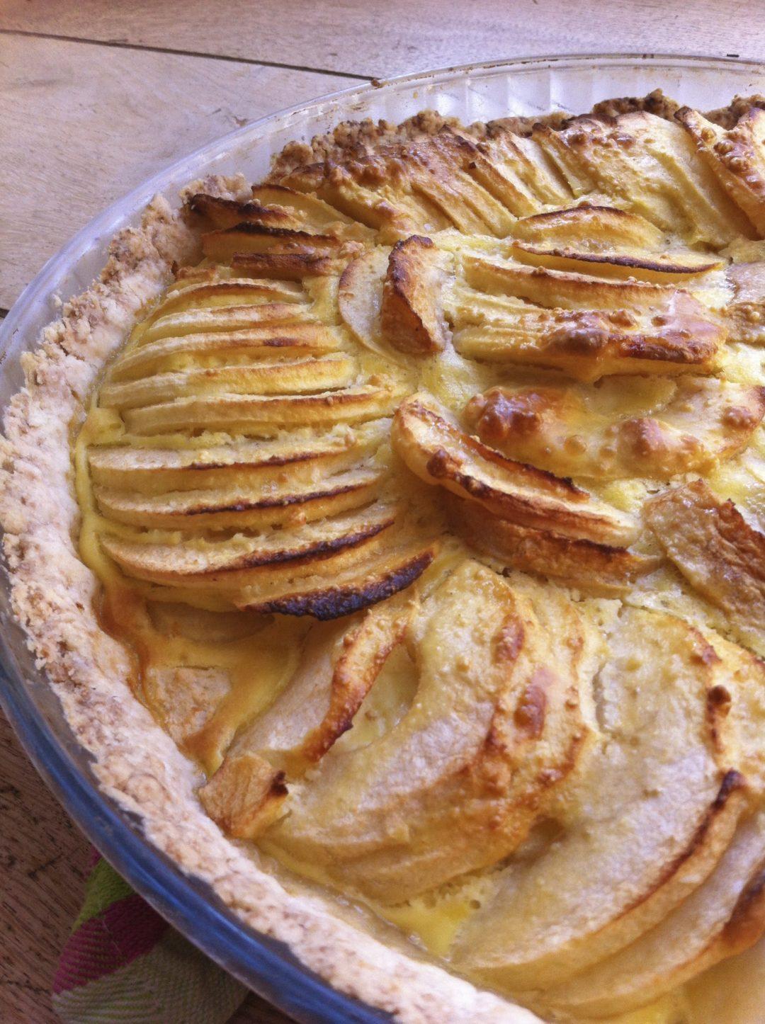 tarte aux pommes et amandes