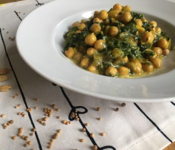 Curry de pois chiches & épinards au lait de coco