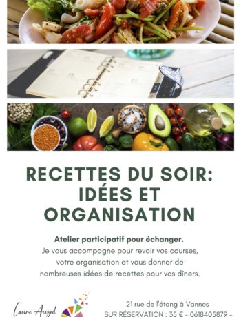 Atelier recettes et organisation pour les diners