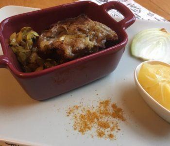 Filet mignon au curry et citron confit