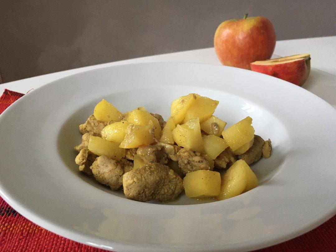 Porc au curry et aux pommes