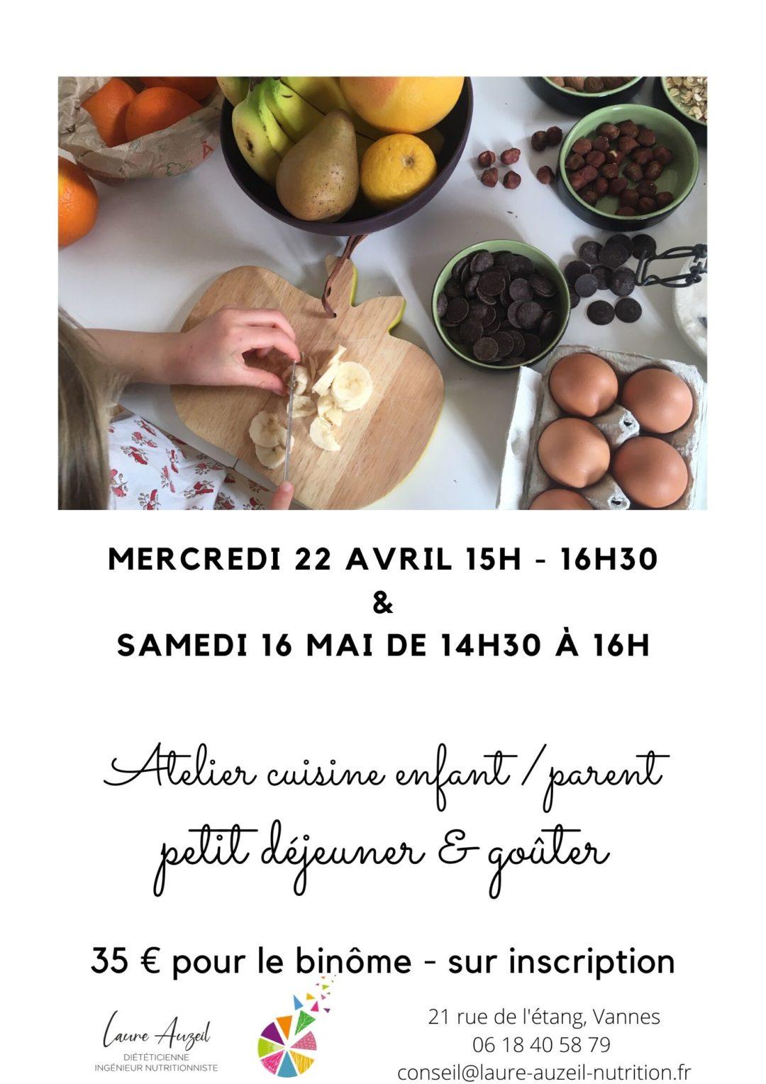 Atelier de cuisine enfant / parent