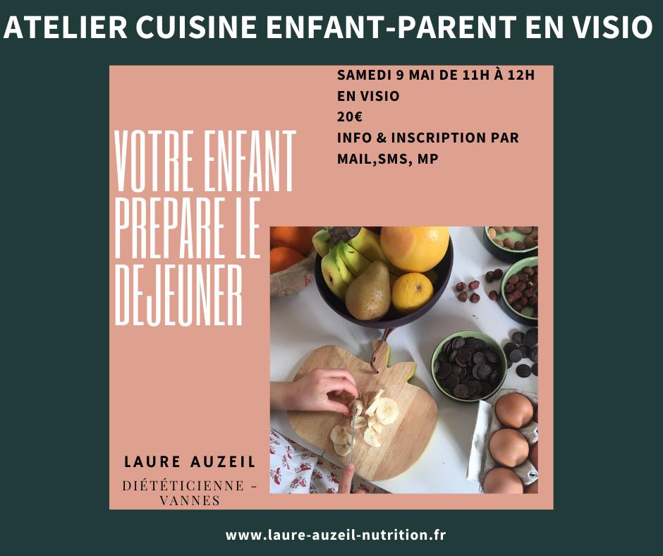 Atelier de cuisine enfant-parent en visio