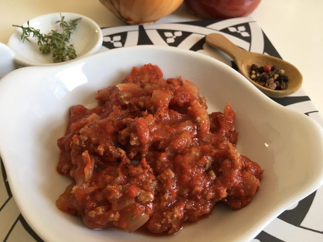Sauce bolognaise de boeuf haché et tomate