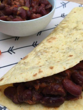 Fajitas végétariennes au haricots rouges et épices