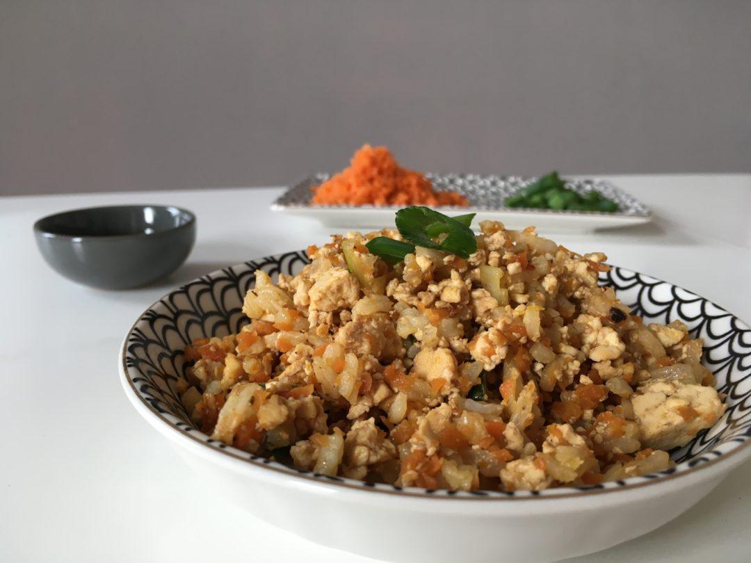 Boulgour sauce au tempeh