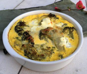 Flan de brocolis au fromage de chèvre