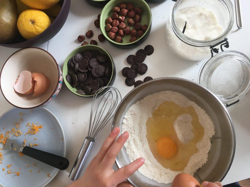 atelier de cuisine pour enfant et grand en binôme
